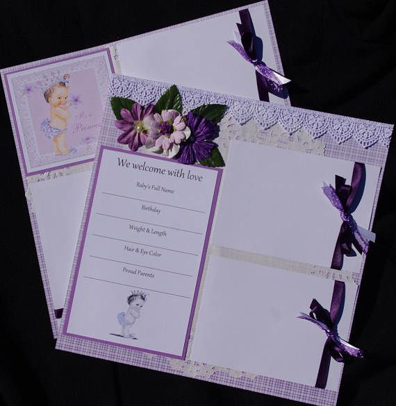 Welcome Baby Girl Princess 212x12 Premade Scrapbook Layouts