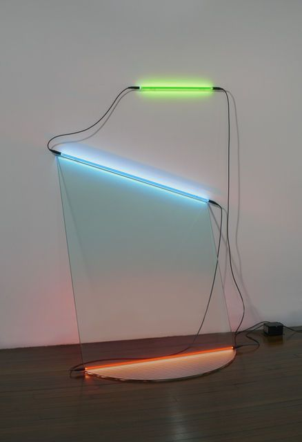 Keith Sonnier . neon wall slant (neon and glass Series), 1968