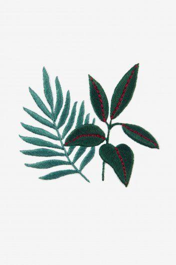 Sew & saunders arbre à caoutchouc & fougères - motif