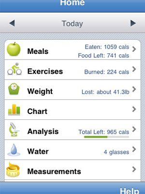This app tracks calorie and nutrition intake. All you have to do is scan a product barcode!