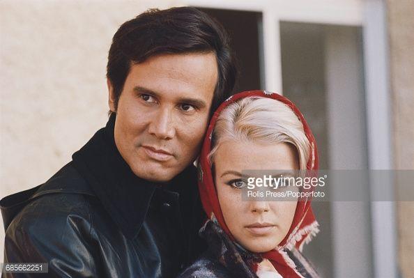 American actor Henry Silva & Katia Christine