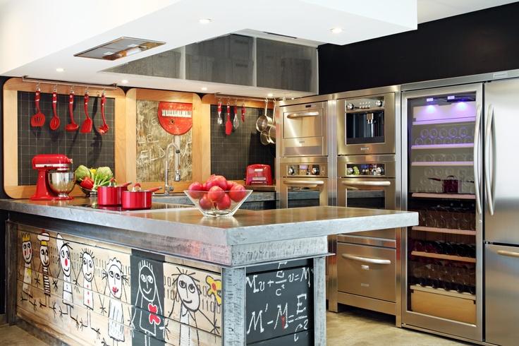 Meer dan 1000 idee n over keuken schiereiland op pinterest keuken bartafel kleine keukens en - Industriele apparaten ...