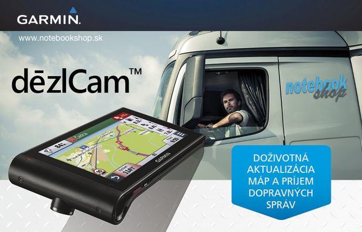 Garmin dezlCam - Garmin dezlCam je prémiová TRUCK GPS navigácia so zabudovanou kamerou a s funkciami pre bezpečnejšiu jazdu.