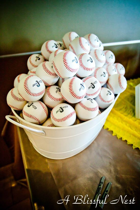 customized baseballs as favors - this is for you Jessica Williams :-)