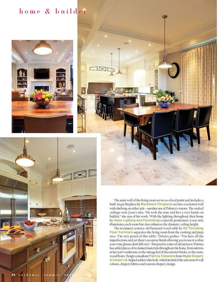 Magazine Article about HD Threshing Floor Furniture - Reclaimed Wood Sawbuck Table