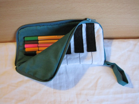 Piano keys pencil case by NewLifeBags on Etsy, $9.50