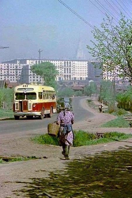 Старокалужское шоссе в районе села Коньково, 1958 год