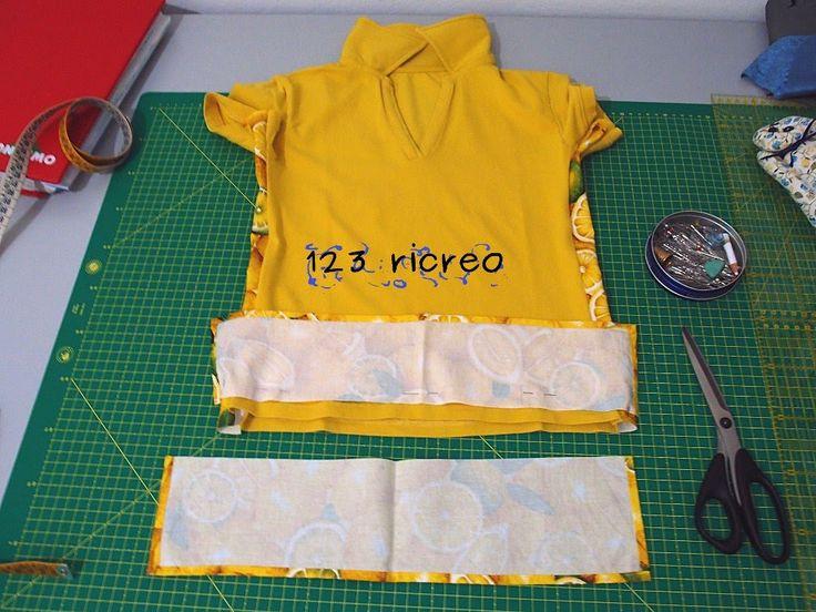 #Maglietta giallo limone #refashion - video su Youtube canale 123ricreo