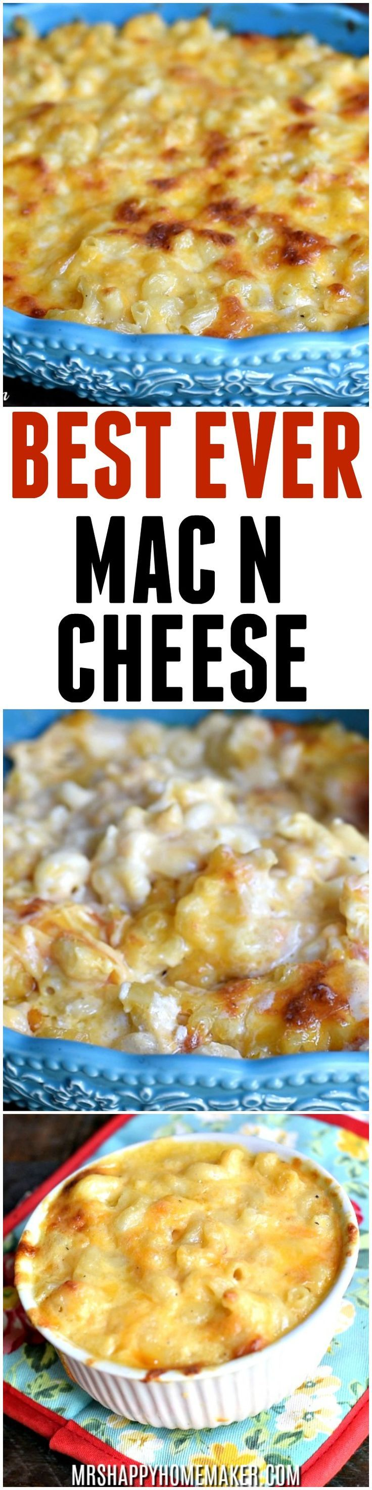 BEST EVER Macaroni & Cheese - I've been holding onto this recipe for 10+ years. It's SO good! Super easy, super cheesy... just the way mac n cheese should be! | MrsHappyHomemaker.com @thathousewife