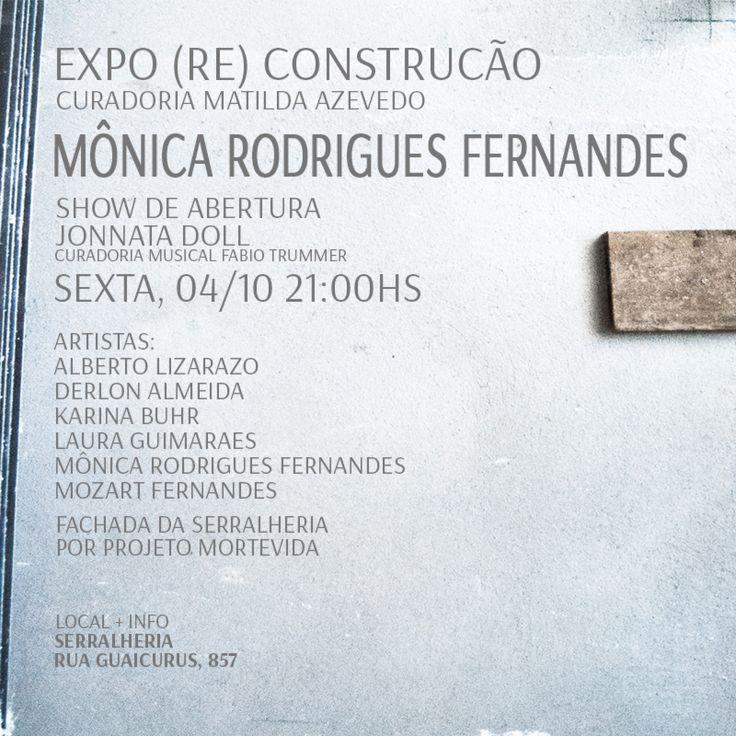 Mônica Rodrigues Fernandes participa de exposição coletiva no Serralheria. Abertura: 04/10 a partir das 22h https://www.facebook.com/events/518351761580689/?fref=ts