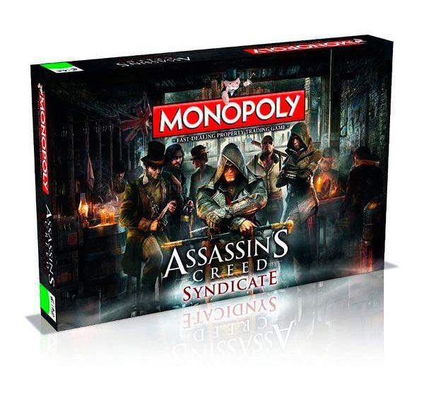 Juego de mesa Monopoly Assassin's Creed Syndicate. Versión en inglés Adaptación del popular juego de mesa Monopoly basado en el popular videojuego Assassin's Creed Syndicate, donde los jugadores tendrán que recuperar emblemáticos monumentos del Londres victoriano de las garras de los templarios. Juego 100% oficial y licenciado.