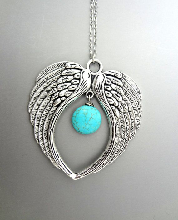 Angel Wings Necklace Necklace by 5andUnder on Etsy
