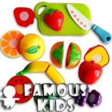 Fructe din plastic - set de taiat