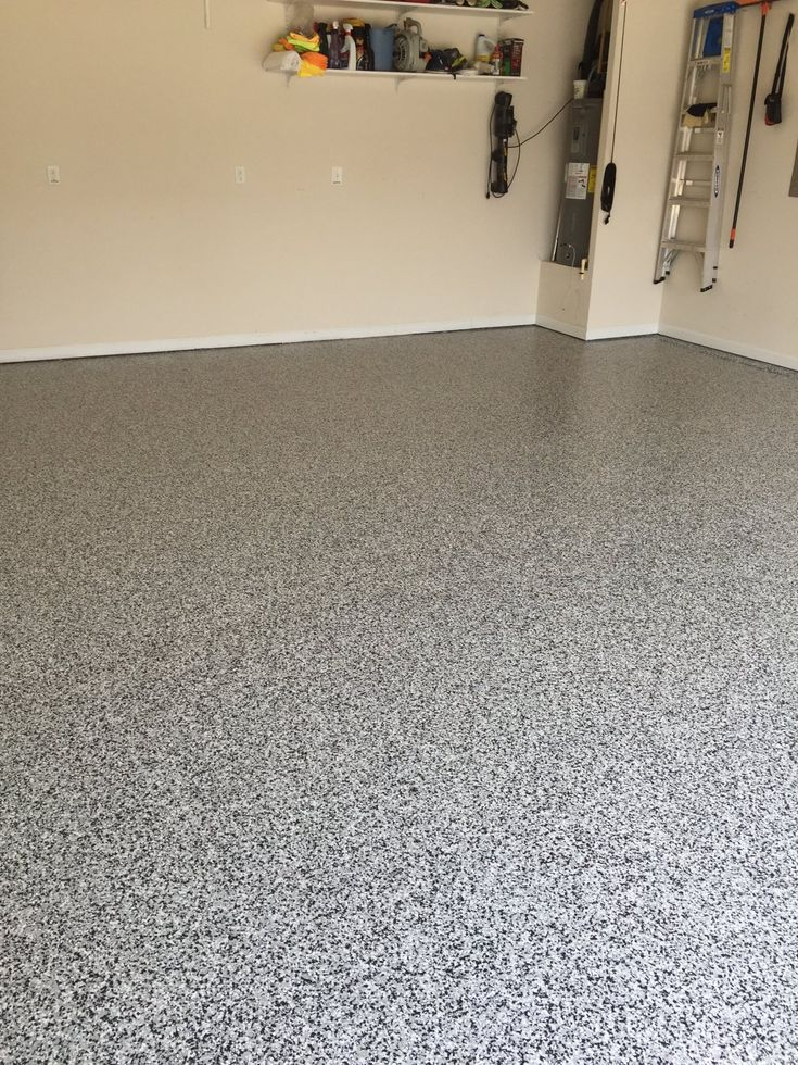 Decorative Epoxy Flake Garage Floor in Cary, North Carolina.