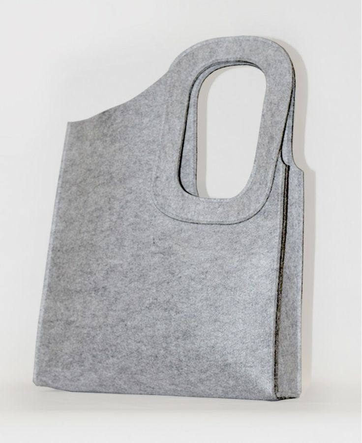 grey cotton felt shopper tote bag by JaneClarbour