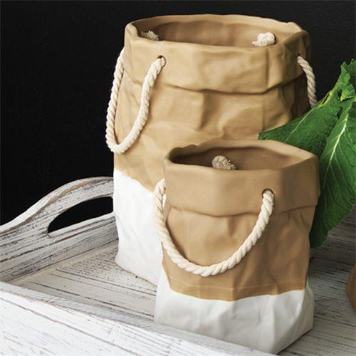 paper bag planter