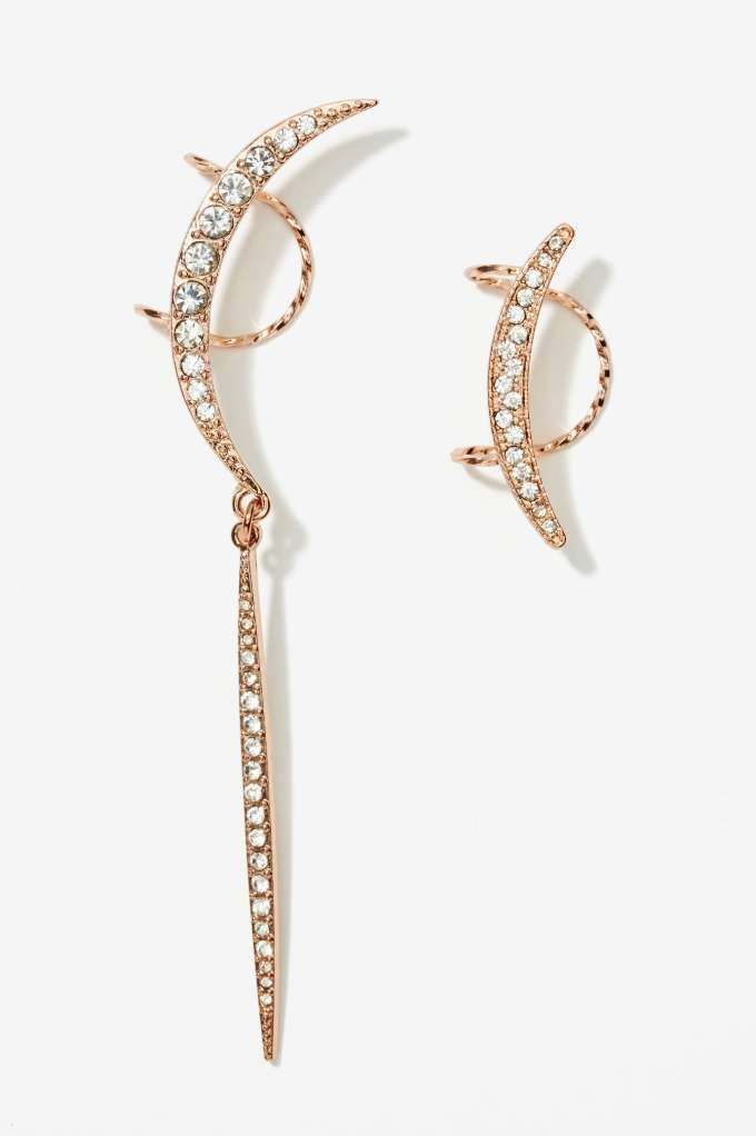 Total Eclipse Rhinestone Ear Cuff Set - Back In Stock | Back In Stock | Earrings | Ear Cuffs | Cyber Monday Accessories