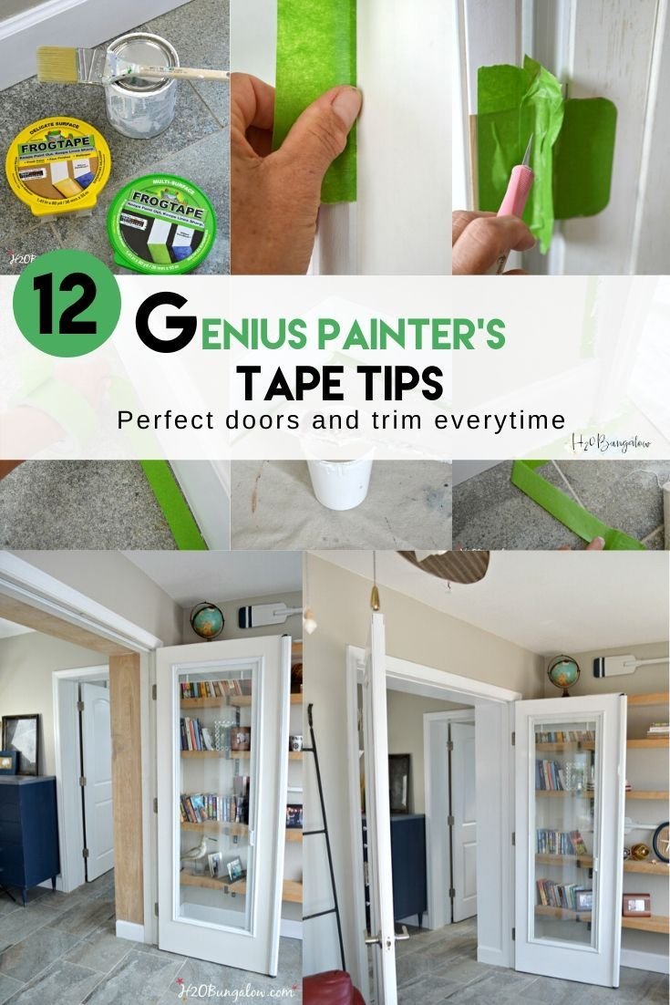 12 Genius Painters Tape Tips For A Perfect Diy Paint Job Painters Tape Diy Painting Painting Trim