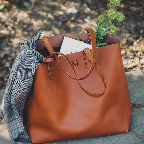 Womens Leather Tote Bag Personalized Brown Handbag Womens Bags Messenger Bag Leather Tote Woman Personalized Mother/'s Day Gifts for her