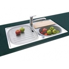 Centre The Franke Aurora quality stainless steel double bowl sink ...