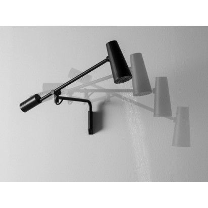 CLOSER WALL MOUNT SHOWER HEAD 2X ADJ ARMS BLACK