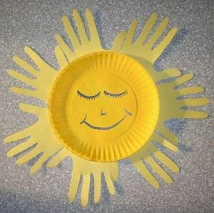 handprint sun craft by jenniferET