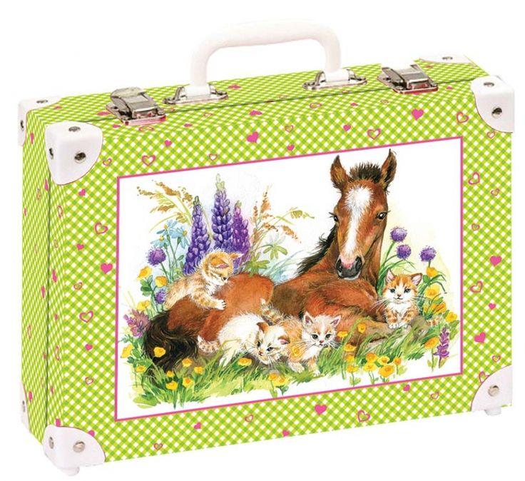 Školní kufřík velký - 35x25x11cm č. 21741 HK Velký    Hříbata a koťata -vznik velkého přátelství?