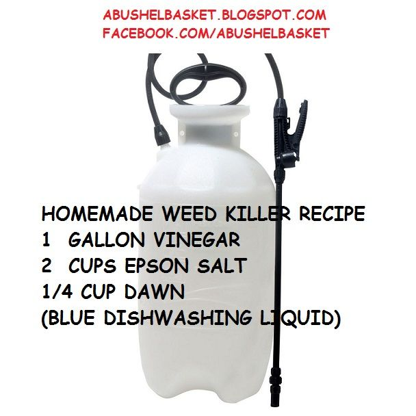 """A Bushel Basket"": HOMEMADE WEED KILLER RECIPE"