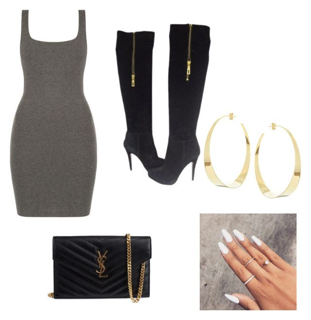 """""""Night out"""" by ana-johnston on Polyvore featuring Prada, Lana and Yves Saint Laurent"""