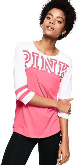 Are you looking for the cutest Football Tee? I don't get into his football watching, but I do love VS PINK. I got this for the next football party. |victorias Secret,  Pink, football, shirt | #ad