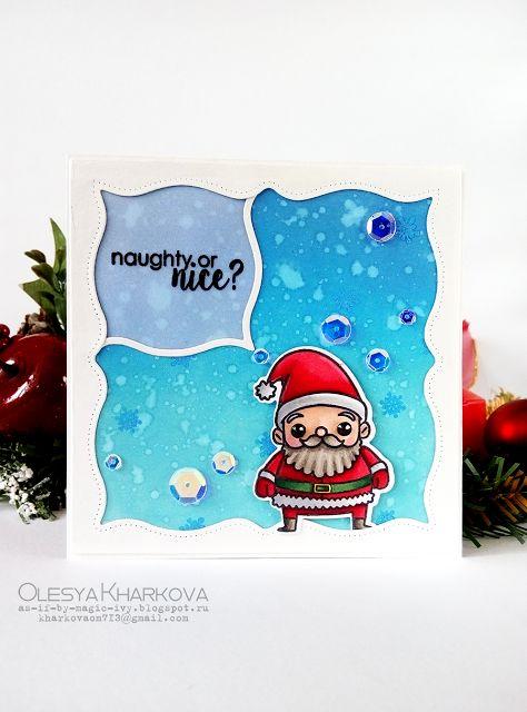 As if by magic by Olesya Kharkova: Naughty or nice? | Christmas card