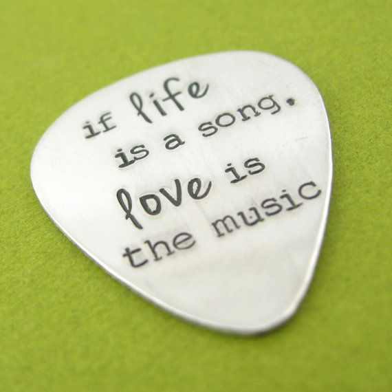 Personalized Guitar Pick in aluminum  custom by SpiffingJewelry, $18.00