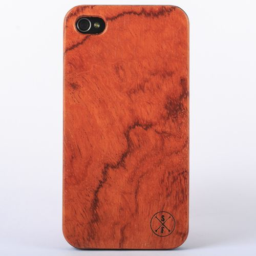 Rosewood Cabot Case - Black iPhone 4/4S - Composed of a solid piece of rosewood with a polycarbonate shell, this unique case offers protection from harmful elements and scratches. Plus, 20% of the sale goes to charity and 1 tree is planted per product sold!