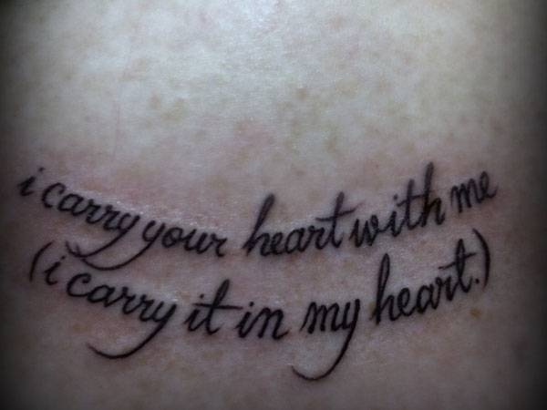 Quote Tattoos For Girls Art