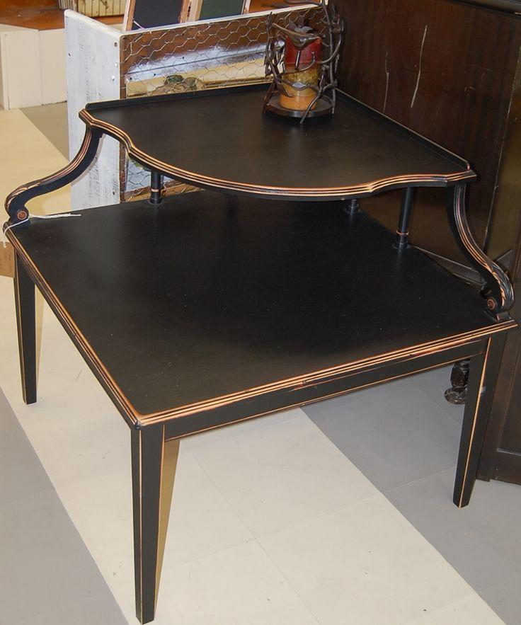 Black Refinished Vintage Corner Table. Love It! Corner TableNice FurnitureLove  It