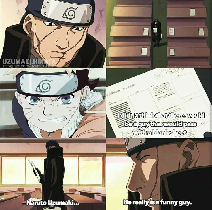 Haha… Naruto passed the First Round of The Chunin Exams with his blank sheet :)))