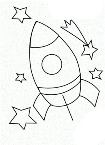 Malvorlagen Rakete ausdrucken 2
