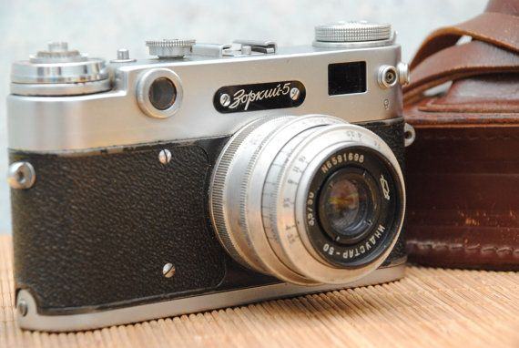 1958  Russian Soviet KMZ ZORKI 5 35mm USSR rangefinder Film Camera with Industar 50 3,5/50mm lens