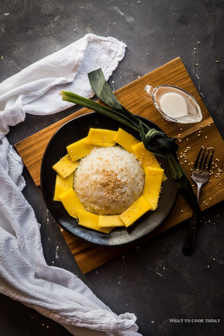 Coconut Sticky Rice With Mango (khao Niao Mamuang) Is Popular Glutenfree  Thai