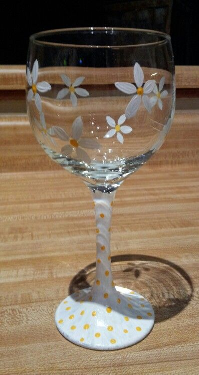One of my first hand painted wine glasses