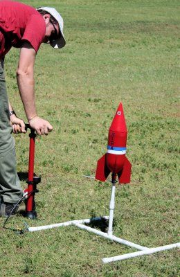 Launcher for rocket.....maybe good for constructing a drill sergeant around so his drills can rocket out of his arms?