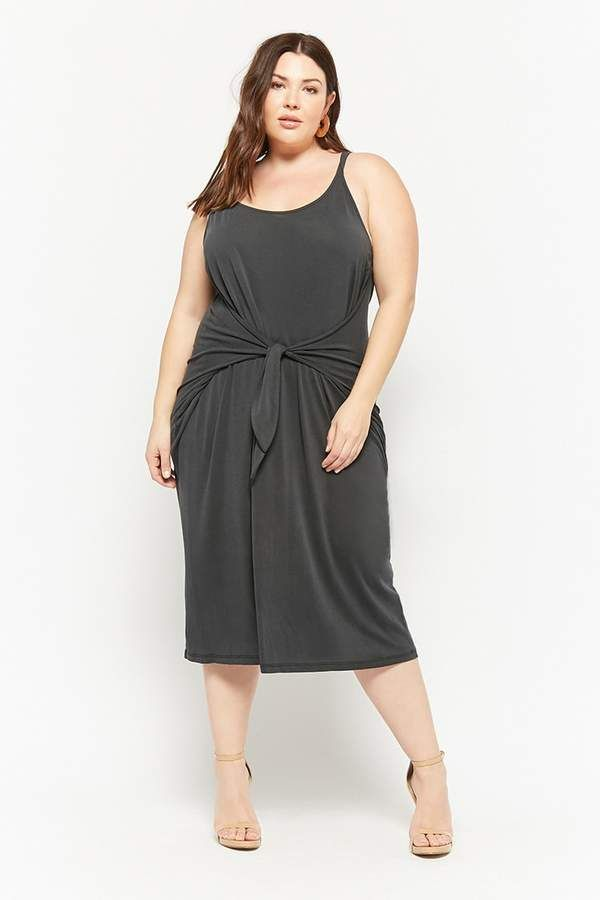 74acfbd97 Forever 21 Plus Size Tie-Front Midi Dress - Plus Size Fashion for Women - Ad