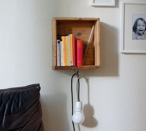 Savings Tip: Turn an old drawer into a bedside table!