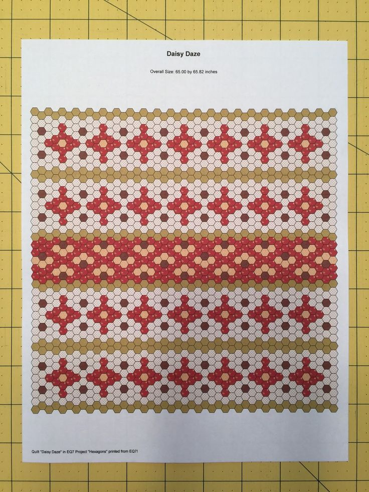 Suzy's Quilting Room: Citrus Swirl Hexagon Quilt Top                                                                                                                                                     More