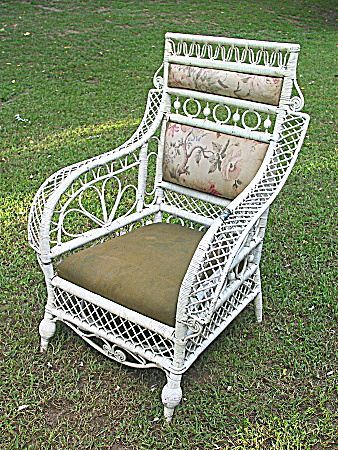 Rare Antique Victorian Wicker Arm Chair   Found On Ruby Lane  Www.rubylane.com