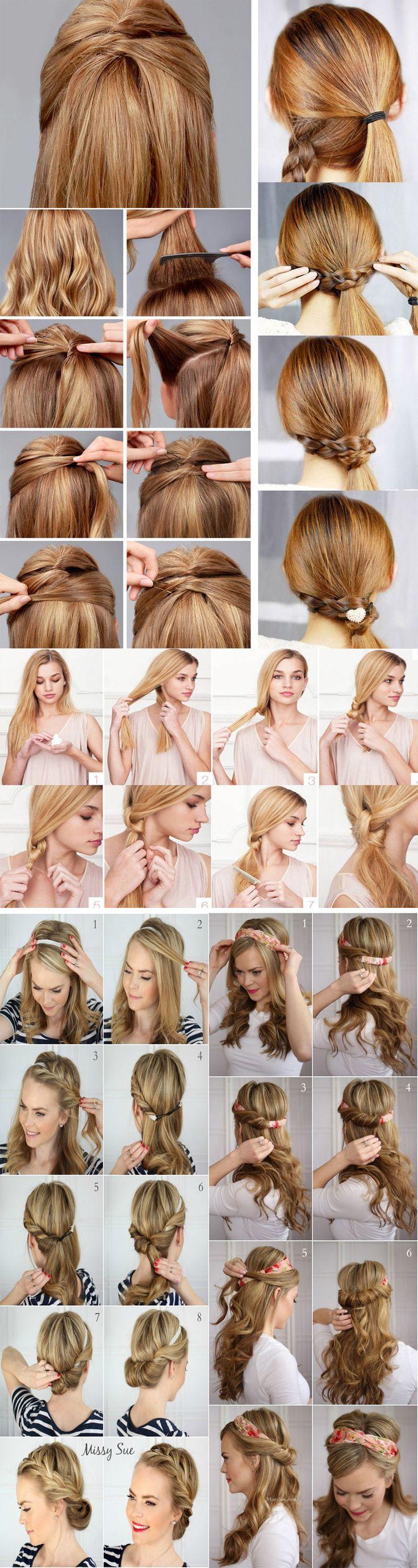 15 Penteados passo a passo para as festas de final de ano: tem tutorial pra todos os gostos, com penteados simples, com trança, com coque e muito mais!