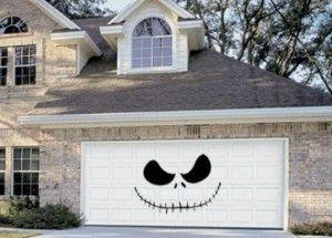 Skellington Halloween Garage Door Decoration