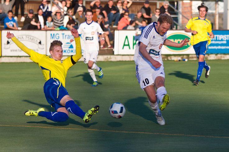 FC Futura - Gnistan, Anton Britchgi scores 3-2 goal.