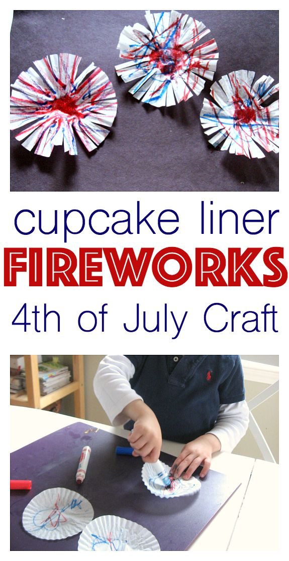 Awesome 4th of July craft for kids . Great fireworks craft from No Time For Flash Cards!