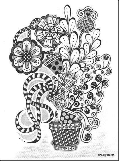 zen doodle coloring pages flower - photo#25